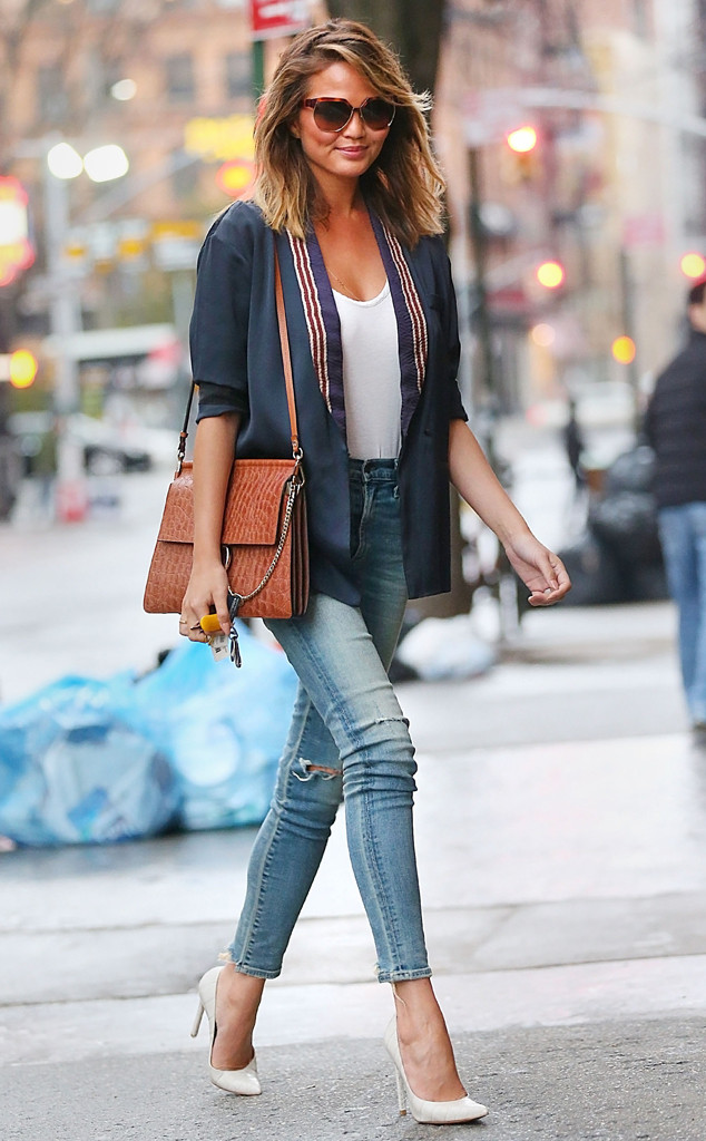 """Teigen s number one fashion rule  Add heels to any outfit to make it  instantly make it more professional and put together. Chrissy took this  casual """"going ... e1badcbd55"""