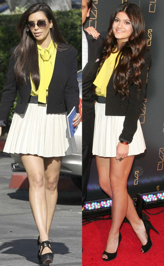 rs_634x1024-150729135423-634.kim-kylie-yellow-shirt-pleated-skirt-072915